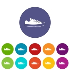 Sneakers set icons vector image vector image