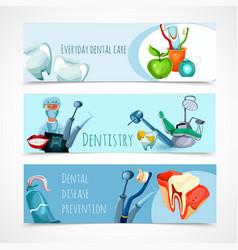 Stomatology banner set vector