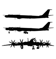Tu-95 Bear vector image vector image