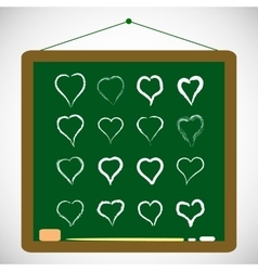 with hand draw hearts set vector image vector image