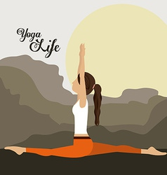 Yoga life design vector image