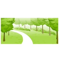 Green Landscape and path vector image