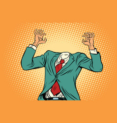 businessman without a head vector image