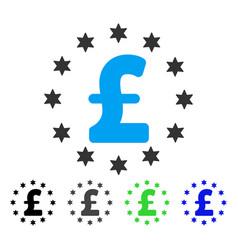Sparkle pound flat icon vector