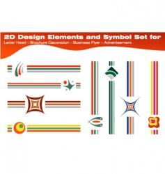 symbols for brochures vector image