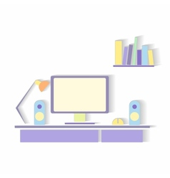 Business workspace vector