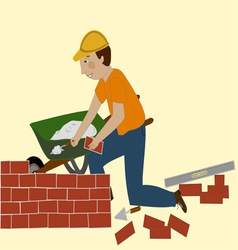 The bricklayer vector