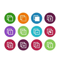 Copy paste circle icons for apps web pages vector