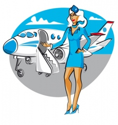 Cartoon air hostess vector