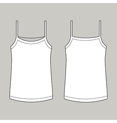 Vest front and back vector