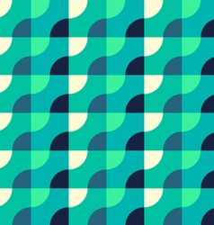 Retro geometric blue pattern vector