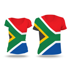 Flag shirt design of south africa vector