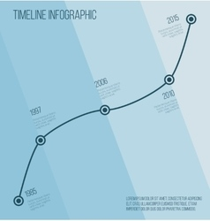 Flat blue diagonal timeline infographic vector