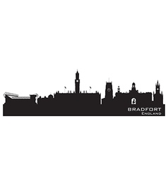 Bradfort england skyline detailed silhouette vector