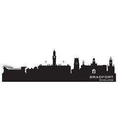 Bradfort England skyline Detailed silhouette vector image
