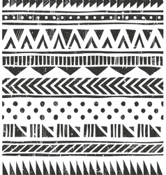 Seamless tribal texture primitive vector
