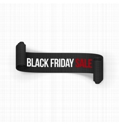 Realistic black friday sale curved banner vector
