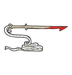 Comic cartoon harpoon vector