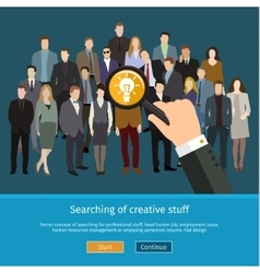 Recruitment or selection concept vector
