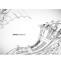 architectural sketches background vector image