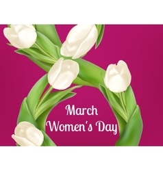 Womens day greeting card eps 10 vector