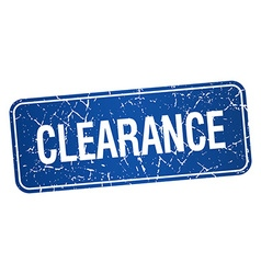 Clearance blue square grunge textured isolated vector