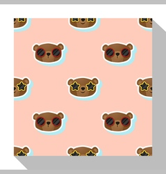 Animal seamless pattern collection with bear 1 vector