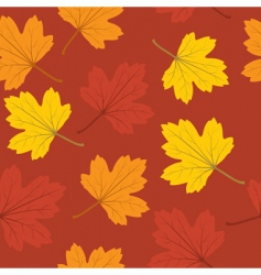 Autumn leaves seamless vector