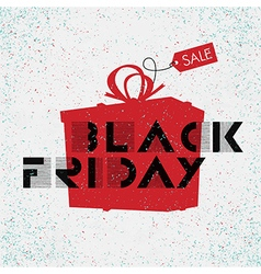 black friday poster white background vector image vector image