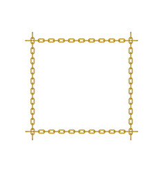chain in shape of square vector image vector image