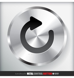 Circle metal reload button applicated for html and vector