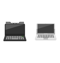 Computer laptop network technology vector