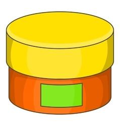 Cream jar icon cartoon style vector