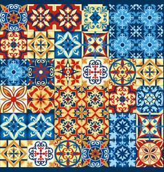 decorative tile mosaic vector image