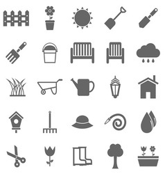 Gardening icons on white background vector