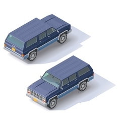 Isometric suv vector