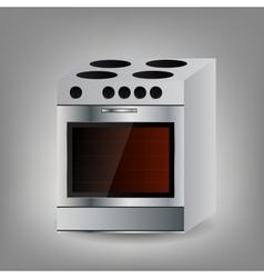 Kitchen oven icon vector