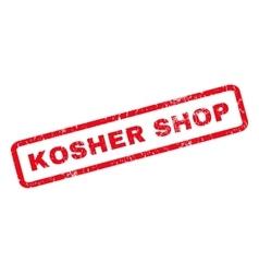 Kosher shop rubber stamp vector