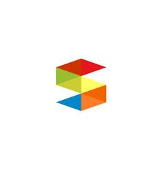 letter s icon alphabet symbol vector image
