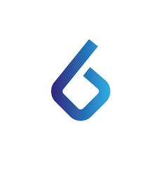 letters b logo design template elements vector image