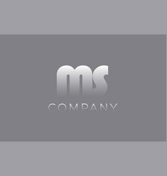 Ms m s pastel blue letter combination logo icon vector
