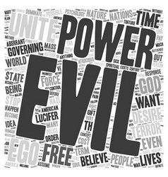 On the nature of evil text background wordcloud vector