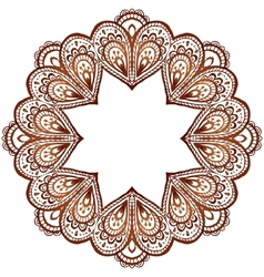Ornate circle pattern in indian style vector