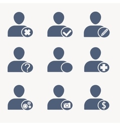 People icons User icons Human resources vector image