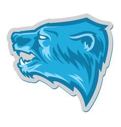 polar white bear head logo vector image vector image