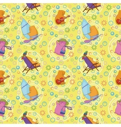 Seamless cartoon toy animals vector image