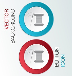 spool of thread and needle vector image