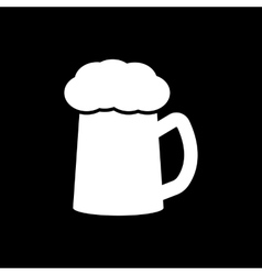 The glass of beer icon pub and kvass alcohol vector