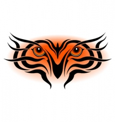 tiger eyes tribal tattoo vector image vector image