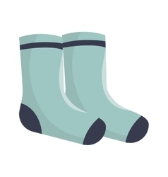 Winter socks clothes icon vector